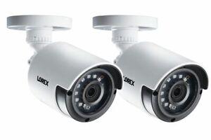 Lorex LAB243 2K 4MP Super HD Bullet Security Cameras, 130ft, CNV (2 Pack)