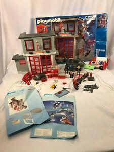 Playmobil-5981-estacion-de-rescate-de-bomberos-y-9043-Lote-de-2