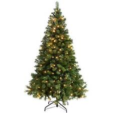 Item 1 Pre Lit Spruce Multi Function Christmas Tree With 200 Warm White Led Lights 6ft