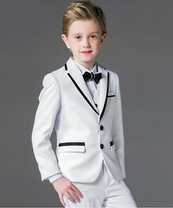 913eb87160b83 Details about Boys Wedding Tuxedo Kids Flower Boys Suit Blazer Formal Party  Jacket Vest Pants