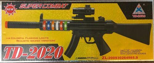 TD-2020 Super combat Rifle coloré feux clignotant réaliste Sound Vibration