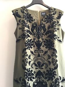 fc3d16d3 Image is loading NWT-ECI-flocked-cocktail-social-occasion-sheath-dress-