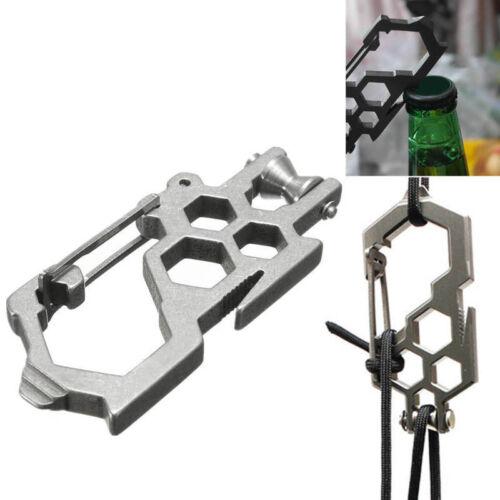 EDC Camping Tool Para-Biner Pulley System Stainless Steel Carabiner Opener、Pop