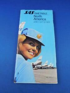 SAS-SCANDINAVIAN-AIRLNES-SYSTEM-NORTH-AMERICAN-TIMETABLE-SCHEDULE-APRIL-OCT-1972