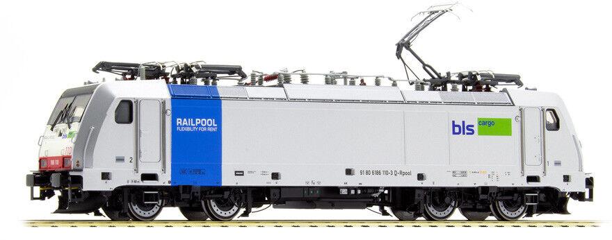 ACME 60404 186 110 Railpool noleggiata BLS autogo, livrea grigia, fascia blu