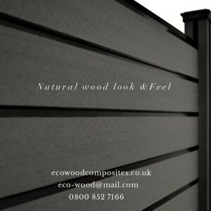 Composite Fence Panels Garden Fence Panels Made To Order By Eco Wood Ebay