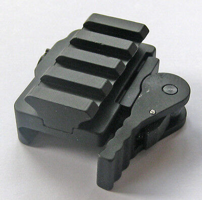 New Tactical Compact Quick Release Mount Adapter fit 20mm Picatinny Rail Base 11