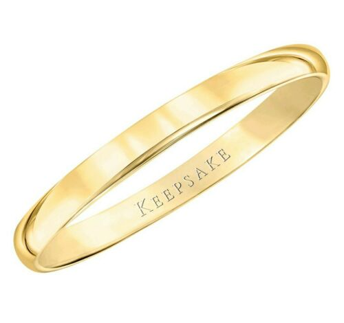 10kt Yellow Gold 2mm Size 6 Plain Women/'s Wedding Band Ring NEW