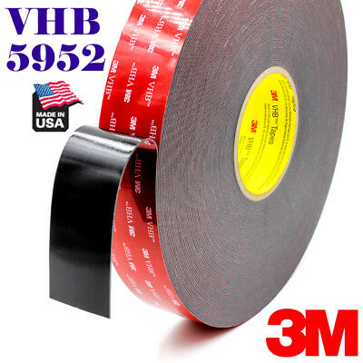 "3M 2/"" x 36 ft  VHB Double Sided Foam Adhesive Tape 5952 Automotive Mounting US"