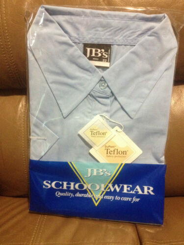 JB's GIRLS SCHOOL BLOUSE BNIP LIGHT BLUE SIZE 16