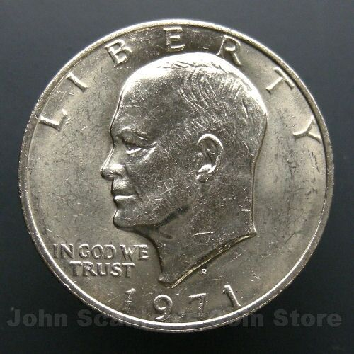 Brilliant Uncirculated 1971-D Eisenhower Dollar BU