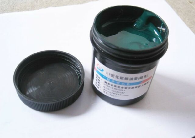 1Pcs PCB UV Curable Solder Mask Repairing Paint Green 100G  Cheap