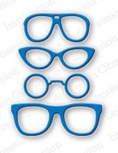 "Impression Obsession DIE048-E ""Sunglasses"" 1 Metal Dies NEW"