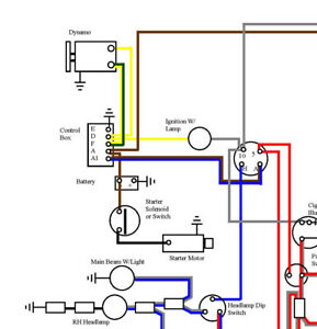 norton commando full colour wiring diagram a3 \u0026 laminated wipe Trolling Motor Wiring Diagram image is loading norton commando full colour wiring diagram a3 amp