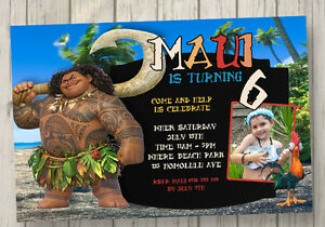Image Is Loading MAUI Invitation Hawaiian MOANA INVITATION Luau Birthday Party