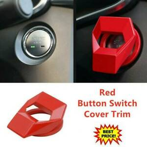 Senmubery Car Engine Start Stop Switch Button Cover Trims Start Stop Button Cover Push Start Button Cover for JL 2018-2020 and JT 2020