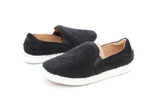 1be22cbaa4c UGG RICCI BLACK COLOR FAUX SHEEPSKIN SLIP ON SNEAKERS SIZE 8 US ...