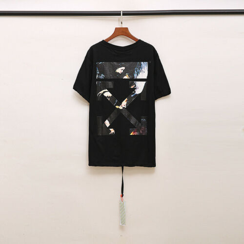 OFF WHITE Fashion Tide brand Baroque religious oil painting angel wings T-shirt