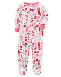 6a8e05764799 Carter s Baby Girls 1-Piece Footed Fleece Pajamas  4T  CHRISTMAS ...