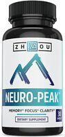 Neuro Peak Brain Support, Zhou Nutrition, 30 Capsule