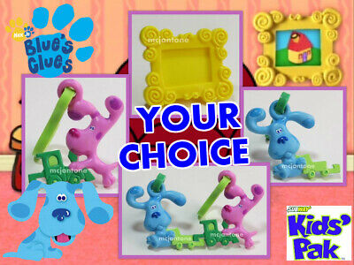 Subway 2000 BLUE/'S CLUES BEST FRIENDS Blue KEY CLIP ON Photo Frame Dog PICK TOY