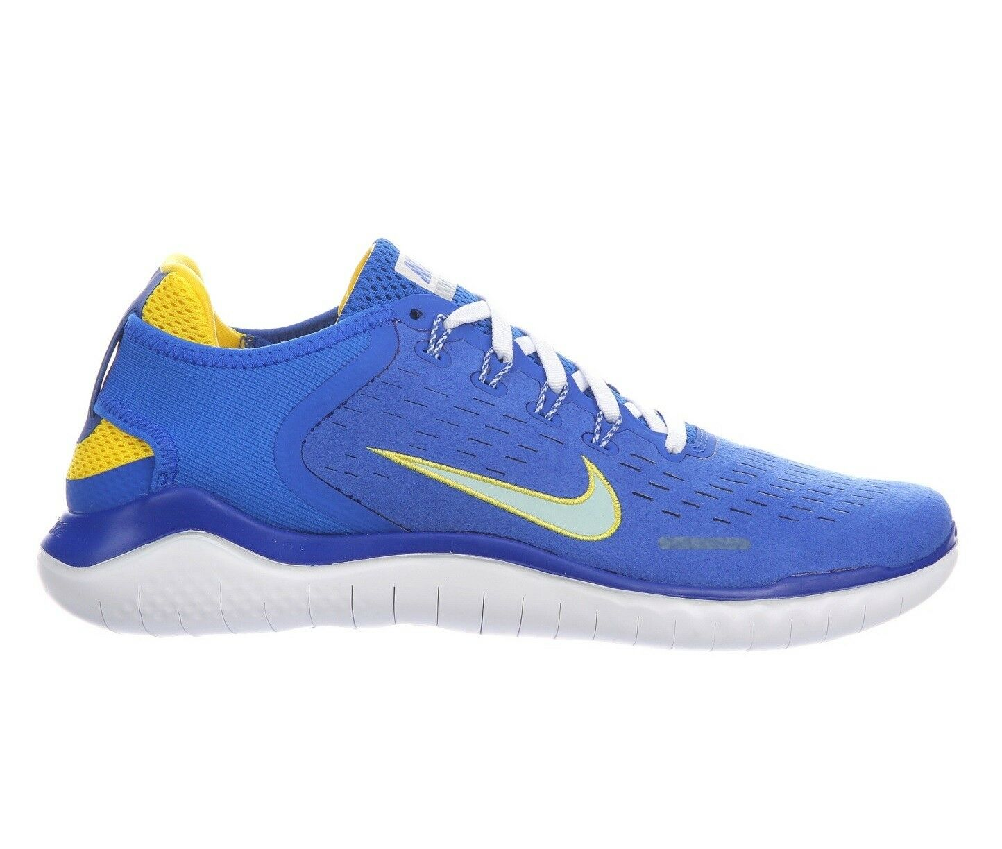 Nike Free RN 2018 DNA Mens AH7870-400 Blue Cobalt Citron Running Shoes Size 8.5