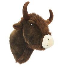 Neuware großer Bison Büffel Kopf Trophäe aus Plüsch