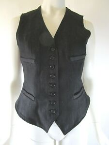 4 tasca Ralph Made Usa Lauren Black Denim Label Taglia In quattro Vest qPUw6xf4