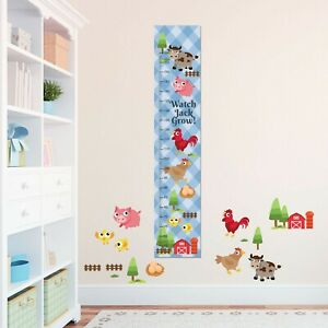 Personalised Boys Army Toy Train Cute Custom Gift Growth Height Measure Chart