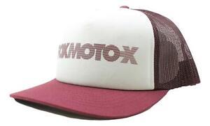 Fox-Unisex-Baldwin-Mesh-Trucker-Snapback-Hat-Cranberry-White-One-Size-New