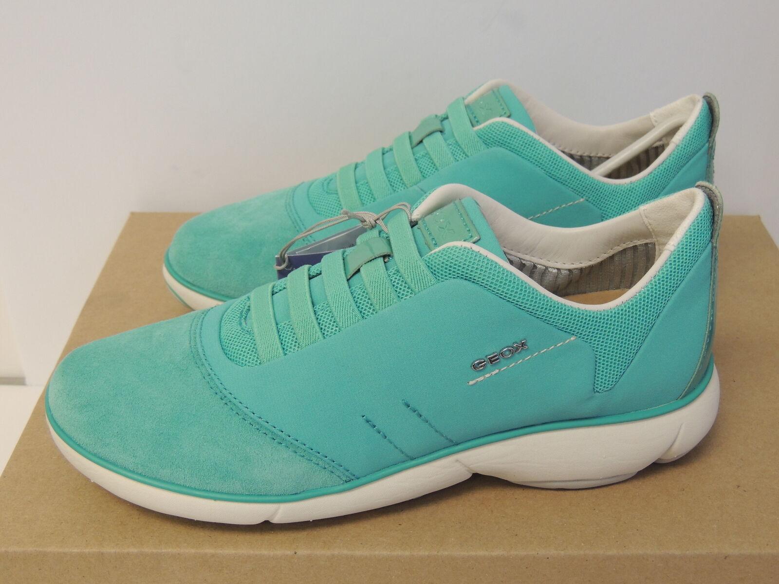 Geox Women Trainers Nebula Sneaker shoes, Water Sea (Size 5 US )
