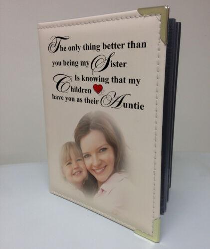 tía Regalo De Cumpleaños Personalizado de imitación de cuero foto álbum libro de memoria