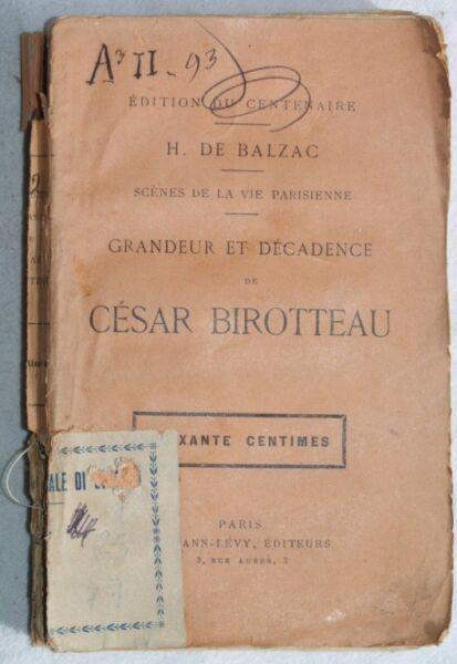 1930 De Balzac Grandeur Et Decadence De Cesar Birotteau Prezzo Moderato