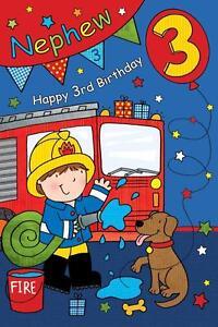 Image Is Loading NEPHEW BIRTHDAY GREETINGS CARDS AGE 3 206133