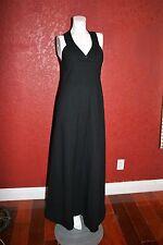MOLLIE PARNIS BOUTIQUE  NEW YORK  FORMAL BLACK MAXI HALTER DRESS  VINTAGE 80'S