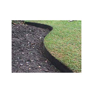 Image Is Loading Smartedge 50m Black Easy Lawn Edging Border Fence