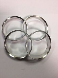 Industrieux 4 X Aluminium Metal Spigot Anneaux 58.1 - 57.1 Hub Centric Spacer Anneaux-afficher Le Titre D'origine Apparence Brillante Et Translucide