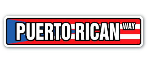 PUERTO RICAN FLAG Street Sign puerto rico national nation pride