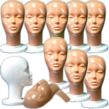 Mn 410 Box Of 9 Pc Female Styrofoam Mannequin Head With Removable No Makeup Mask