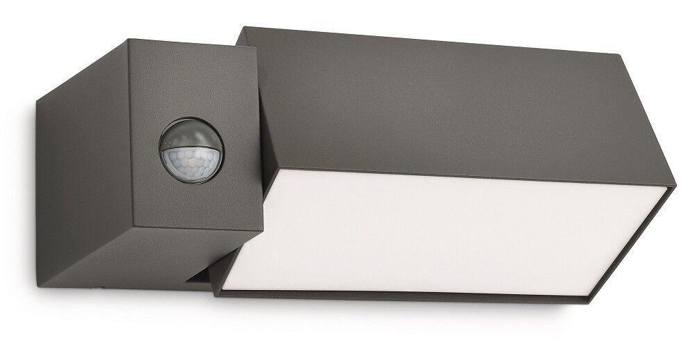 caldo Philips Luce Esterna Es Es Es Ecomoods Border Sensore 23W Antracite 16943 93 16  nessun minimo
