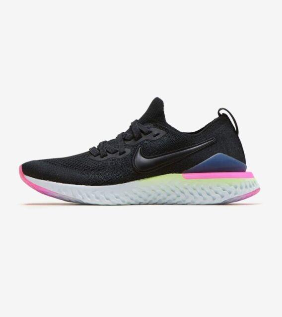 Nike Epic React Flyknit 2 Black, Black-Sapphire  Size 7 AQ3243-003