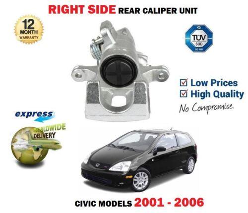 FOR HONDA CIVIC TYPE S R VTEC 2001-2006 NEW RIGHT SIDE REAR BRAKE CALIPER