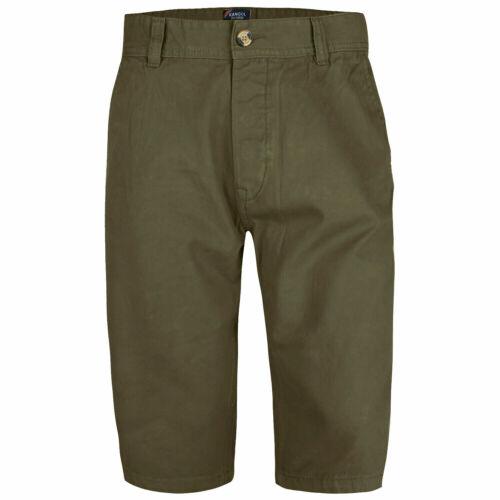Mens Kangol Casual Knee Length Long 3//4 Chino Summer Shorts Bottoms Cotton Pants