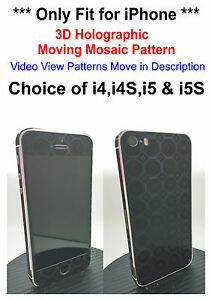 3D-Holographic-Moving-Mosaic-Pattern-Decal-Skin-Sticker-For-iPhone-4-4S-5-5S