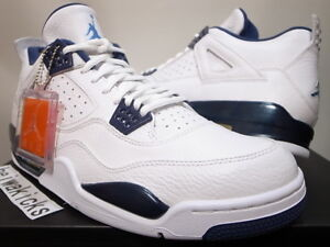 b0c31ce9b2c96c 2015 NIKE AIR JORDAN 4 IV RETRO WHITE LEGEND BLUE COLUMBIA 314254 ...