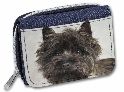 AT-CT2JW Brindle Cairn Terrier Dog Girls//Ladies Denim Purse Wallet Christmas Gi