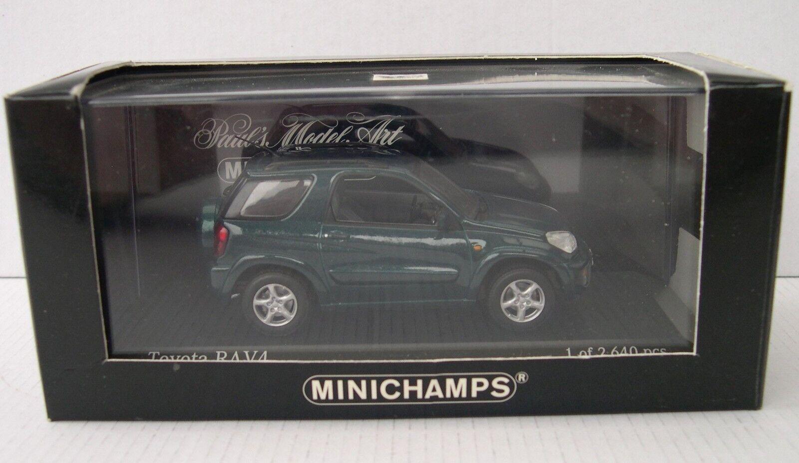 MINICHAMPS 1 43   TOYOTA RAV 4  vert metallic