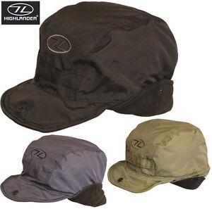 Highlander-Mens-Mountain-Ski-hat-Cap-Trapper-Tracker-Water-Resistnt-Fleece-Proof