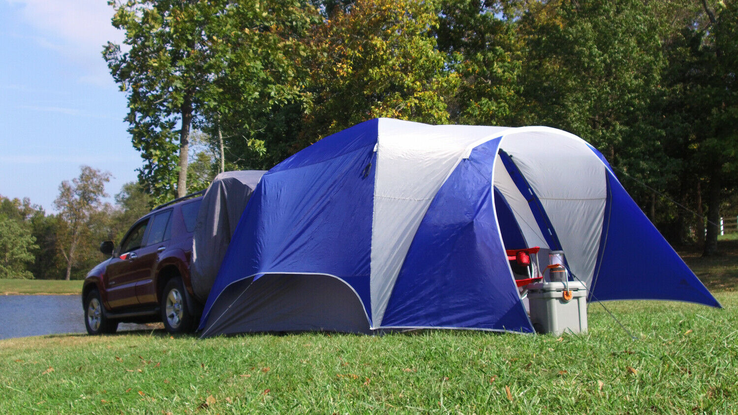 New 5-Person Camping SUV Tent-Easily Camp Right Outside Your Car Comfortably