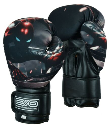 EVO Kids Boxing Gloves Junior MMA Punch Bag Mitts Muay Thai Sparring Training